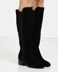 Steve Madden Gieselle Black Suede Boots