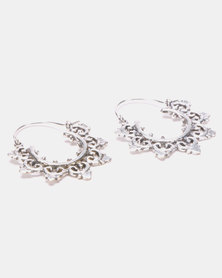 Lily & Rose Brass Curled Hook Earrings Silver-Plated