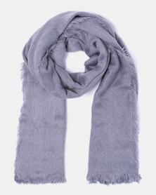 Lily & Rose Soft Tassel Edge Blanket Scarf Grey