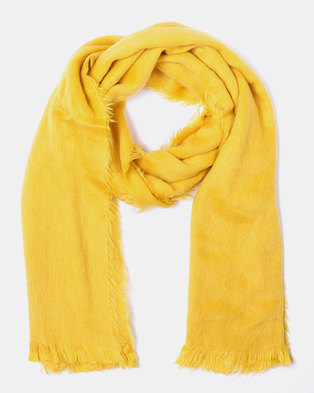 Lily & Rose Soft Tassel Edge Blanket Scarf Yellow