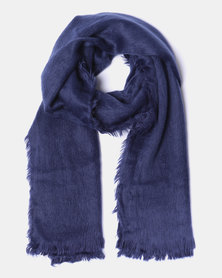 Lily & Rose Soft Tassel Edge Blanket Scarf Blue