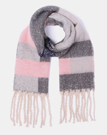 Lily & Rose Soft Woolly Large Scarf Multi