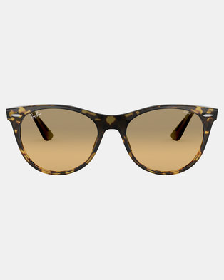 0881841aa41 Ray-Ban Wayfarer II Evolve Sunglasses Yellow Havana