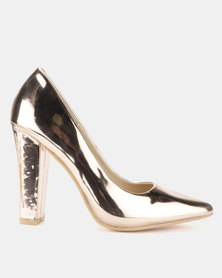 Footwork Alexa Court Heels Rose Gold