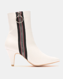 Footwork Miami Ankle Boots White