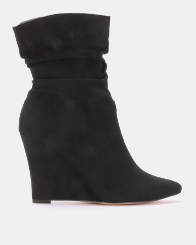 Footwork Chrysalline Wedge Boots Black
