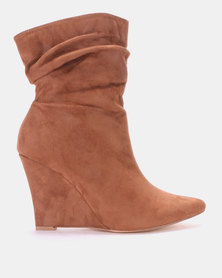 FOOTWORK Chrysalline Wedge Boot Brown