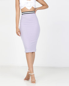 Brett Robson Akila Bodycon Skirt Purple