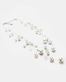 Queenspark Pearl Floater Necklace Cream