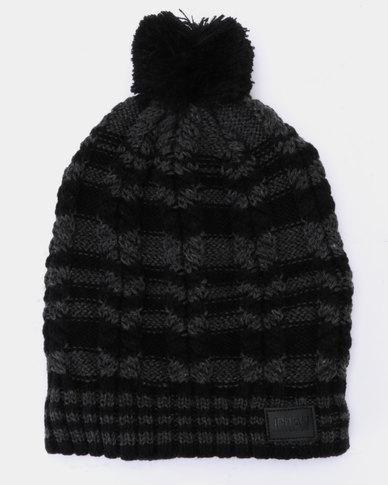 JCrew Stripe Beanie Black