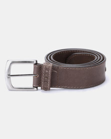 JCrew Interlaced Leather Belt Chocolate