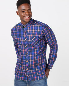Utopia Check Shirt Red/Navy