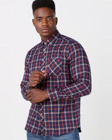 Utopia Check Shirt Cobalt/Red