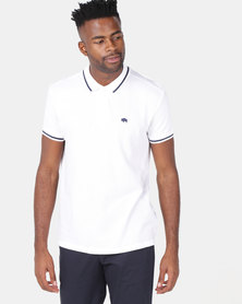 Bellfield Polo Shirt With Tipping White