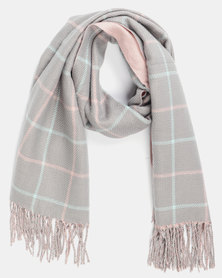 Utopia Check Scarf Grey