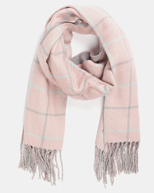 Utopia Check Scarf Light Pink