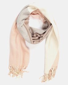Utopia Colour Block Scarf Soft Pink
