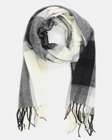 Utopia Colour Block Scarf Grey