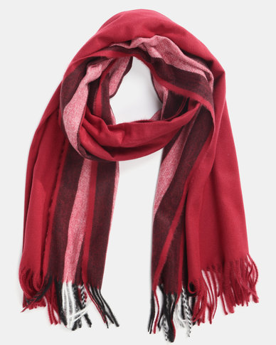 Utopia Soft Feel Scarf Red