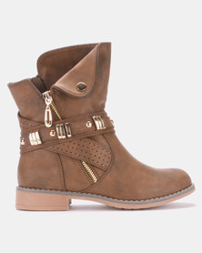 AWOL Ankle Boots Brown