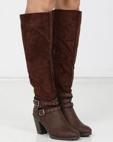 AWOL Long Heel Boots Choc