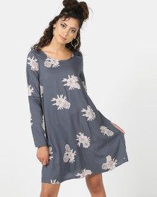 Roxy Seaside Sense Dress Blue