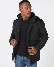 Soviet M Oslo Longer Quilted Jacket Black