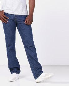 Soviet M Igugu 5 Pocket Straight Leg Denim Basic Jeans Blue