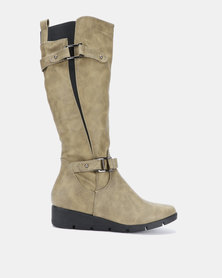 Butterfly Feet Luan Boots Olive