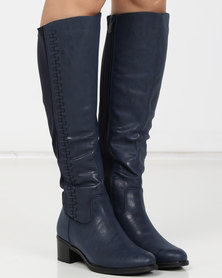 Urban Zone Long Boots Navy
