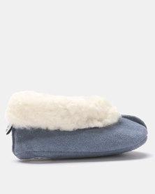 Shooshoos Alaska Fleece Toddler Slippers Blue