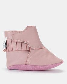 Shooshoos Christmas Pie Fleece Winter Booties Pink