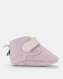 Shooshoos Powder Fleece Winter Booties Pink