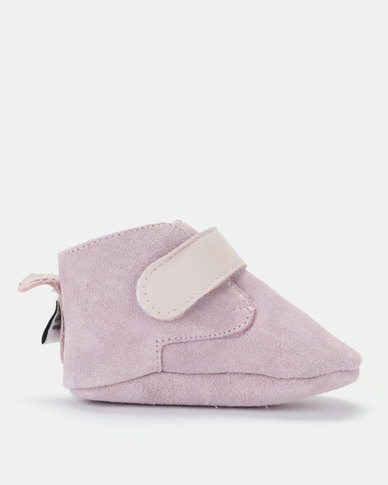 Shooshoos Powder Fleece Winter Booties Pink