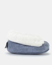 Shooshoos Alaska Fleece Slippers Blue