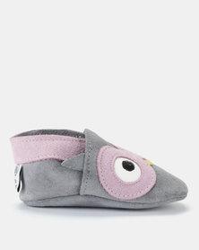 Shooshoos What A Hoot Pull-On Prewalkers Grey/Pink