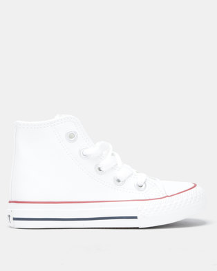 528a1ddb4b0 Soviet K Viper PU Hi-Top Sneakers White