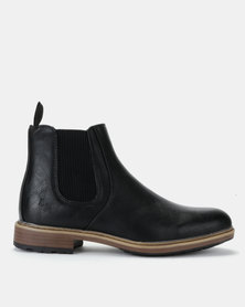Luciano Rossi Chelsea Boots Black
