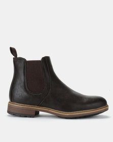 Luciano Rossi Chelsea Boots Brown