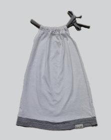 Razberry Kids Q-T-Pie Baby Girls White Cotton String Detail Dress