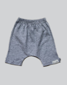 Razberry Kids Q-T-Pie Grey Cotton Knit Harem Shorts