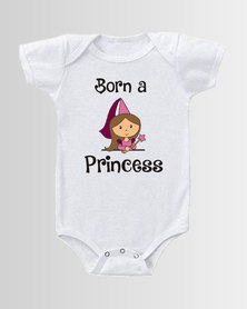 Qtees Africa Born a princess White baby grow