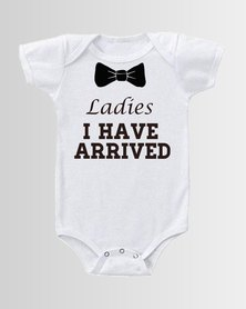 Qtees Africa Ladies i have arrived baby grow