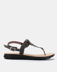 Angelsoft Sarah Comfort Leather Sandals Brown