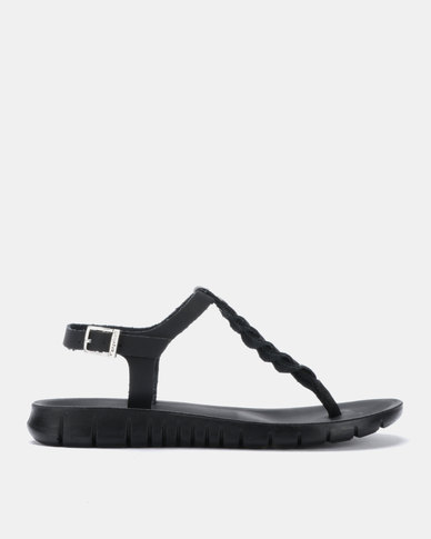Angelsoft Jessica Comfort Leather Sandals Black