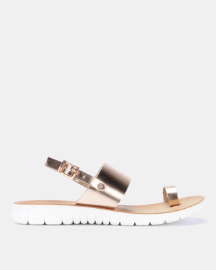 0283a0739 Angelsoft Heidi Comfort Leather Sandals Rose Gold