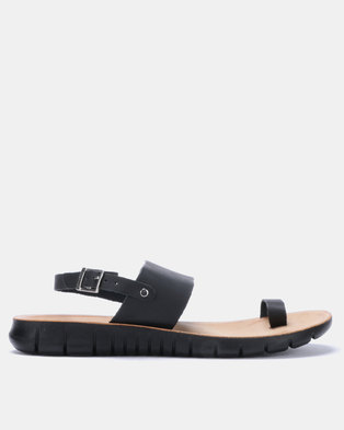 0d744a3a2a27 Angelsoft Heidi Comfort Leather Sandals Black
