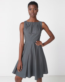 non-european® Twist Dress Olive Grey