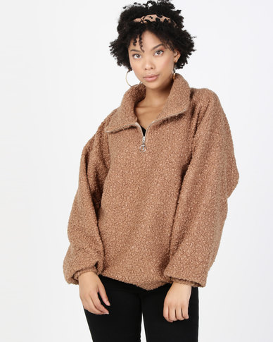 Paige Smith Polo Sweater Camel