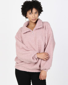 Paige Smith Polo Sweater Rose